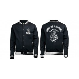 SONS OF ANARCHY - Classic Logo - Baseball Varsity Jacket