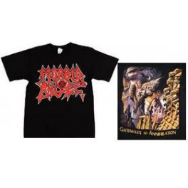 MORBID ANGEL - Red Logo / Gateways To Annihilation - TS
