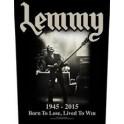 LEMMY - Lived To Win - Backpatch