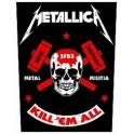 METALLICA - Metal Militia - Backpatch