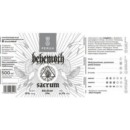 BEHEMOTH - Sacrum - Belgian IPA Beer 50cl 6.2° Alc