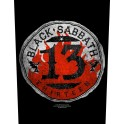 BLACK SABBATH - 13 Circular - Backpatch