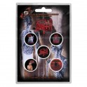 BADGES - DEATH - lot de 5