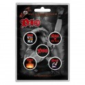BADGES - DIO - lot de 5