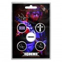 BADGES - TONY IOMMI - lot de 5