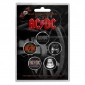 BADGES - AC/DC (Those about...)  - lot de 5