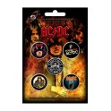 BADGES - AC/DC (Highway...)  - lot de 5