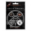 BADGES - ARCH ENEMY  - lot de 5