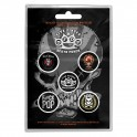BADGES - FIVE FINGER DEATH PUNCH - lot de 5