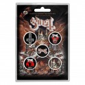 BADGES - GHOST - lot de 5